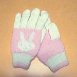 うさぎ模様の手袋