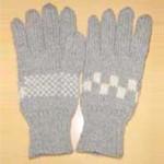 チェック柄の手袋(グレー)