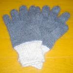 紺×グレーの切り替え手袋