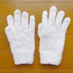 もこもこ手袋(白)