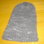 シンプルな帽子(チャコール)