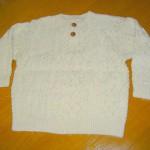 編み込み模様のメンズセーター