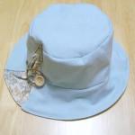 水色の帽子