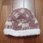 トナカイ模様のニット帽