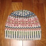 北欧の編みこみ模様のニット帽
