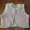 ピンクの鉤針編みベビーベスト